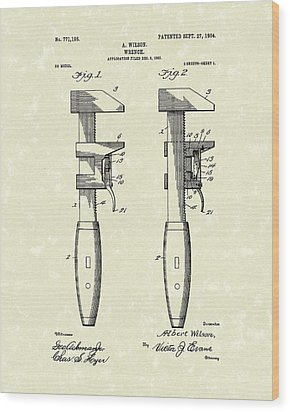 Wrench Wilson 1904 Patent Art Wood Print by Prior Art Design