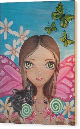 Xenia Fairy Wood Print by Jaz Higgins