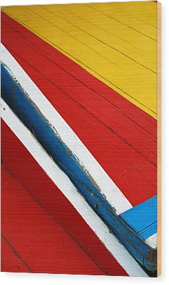 Xochimilco Boat Abstract 1 Wood Print by Skip Hunt