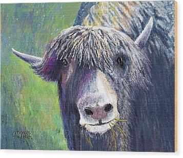 Yakity Yak Wood Print by Arline Wagner