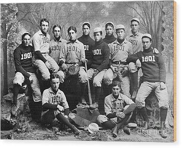 Yale Baseball Team, 1901 Wood Print by Granger