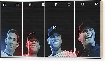 Yankee Core Four By Gbs Wood Print by Anibal Diaz