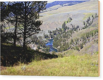 Yellowstone River Vista Wood Print by Marty Koch