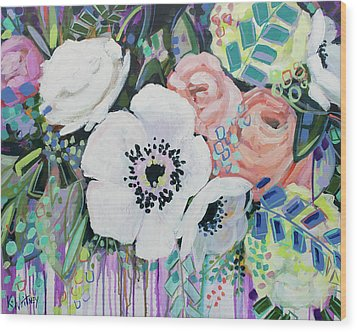 You Had Me At Hello Wood Print by Kristin Whitney