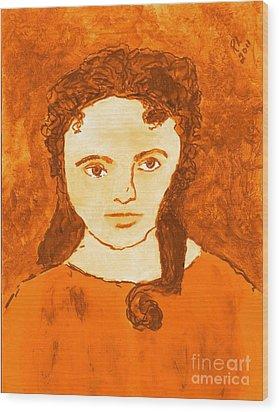 Young Liz Taylor 3 Wood Print by Richard W Linford
