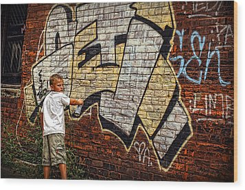 Young Vandal Too Wood Print by Gordon Dean II