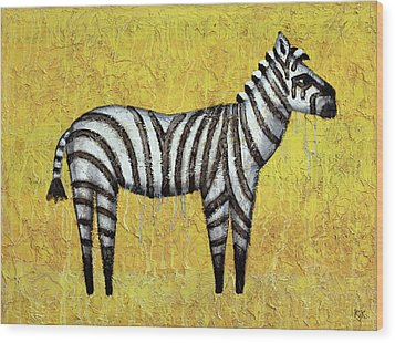 Zebra Wood Print by Kelly Jade King
