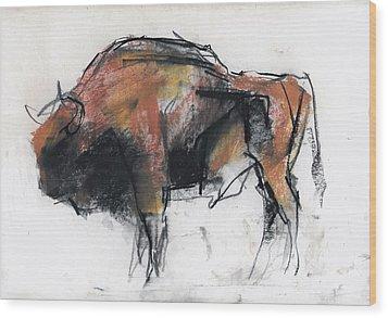 Zubre  Bialowieza Wood Print by Mark Adlington