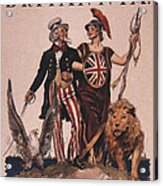 1918 1910s Usa Uncle Sam Ww1  Lions Acrylic Print by The Advertising Archives