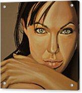 Angelina Jolie Voight Acrylic Print by Paul Meijering