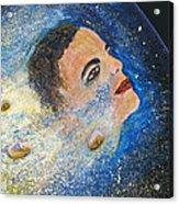 Barack Obama  Stars Acrylic Print by Augusta Stylianou