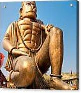 Great Bronze Hanuman - India Acrylic Print by Luciano Mortula