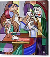 Jesus Anointed At Bethany Acrylic Print by Anthony Falbo