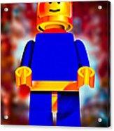 Lego Spaceman Acrylic Print by Bob Orsillo