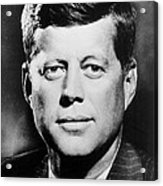 Portrait Of John F. Kennedy  Acrylic Print by American Photographer