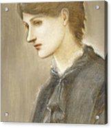 Portrait Of Mrs William J Stillman Nee Marie Spartali Acrylic Print by Sir Edward Coley Burne Jones