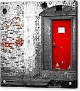Red Door Perception Acrylic Print by Bob Orsillo