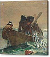 The Herring Net Acrylic Print by Winslow Homer