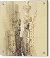 The Minaret Of The Mosque Of El Rhamree Acrylic Print by David Roberts