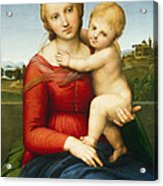 The Small Cowper Madonna Acrylic Print by Raphael Raffaello Sanzio of Urbino