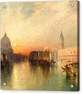View Of Venice Acrylic Print by Thomas Moran