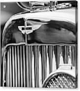 1934 Aston Martin Mark II Short Chassis 2-4 Seater Grille Emblem Acrylic Print by Jill Reger