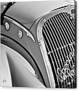 1937 Peugeot 402 Darl'mat Legere Special Sport Roadster Recreation Grille Emblem Acrylic Print by Jill Reger
