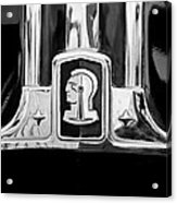 1948 Pontiac Streamliner Woodie Station Wagon Emblem Acrylic Print by Jill Reger