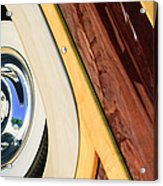 1950 Ford Custom Deluxe Woodie Station Wagon Wheel Acrylic Print by Jill Reger