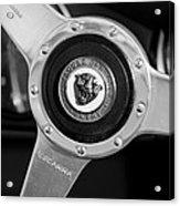 1951 Jaguar Steering Wheel Emblem Acrylic Print by Jill Reger