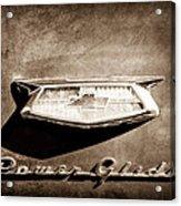 1954 Chevrolet Power Glide Emblem Acrylic Print by Jill Reger
