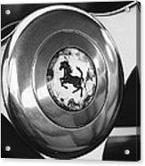 1955 Ferrari 250 Europa Gt Pinin Farina Berlinetta Steering Wheel Emblem Acrylic Print by Jill Reger