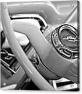 1957 Chevrolet Cameo Pickup Truck Steering Wheel Emblem Acrylic Print by Jill Reger
