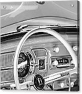 1962 Volkswagen Vw Beetle Cabriolet Steering Wheel Acrylic Print by Jill Reger