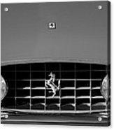 1963 Ferrari Grille Emblem Acrylic Print by Jill Reger
