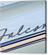 1963 Ford Falcon Futura Convertible  Emblem Acrylic Print by Jill Reger