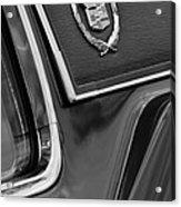 1969 Cadillac Eldorado Emblem Acrylic Print by Jill Reger