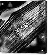 1969 Chevrolet Camaro Rs-ss Indy Pace Car Replica Steering Wheel Emblem Acrylic Print by Jill Reger