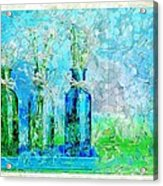 1-2-3 Bottles - S13ast Acrylic Print by Variance Collections