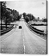 A69 Road On The Border Of Cumbria And Northumberland Uk Acrylic Print by Joe Fox