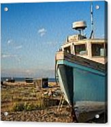 Abandoned Fishing Boat Digital Painting Acrylic Print by Matthew Gibson