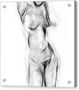 Abstract Nude Acrylic Print by Stefan Kuhn