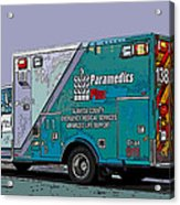 Alameda County Medical Support Vehicle Acrylic Print by Samuel Sheats