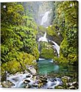 Amazing Waterfall Acrylic Print by Tim Hester