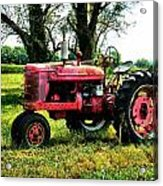 Antique Tractor  Acrylic Print by Julie Dant