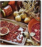 Assorted Spices Acrylic Print by Carlos Caetano