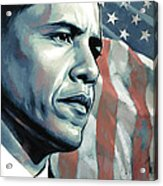 Barack Obama Artwork 2 Acrylic Print by Sheraz A