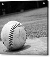 Baseball Acrylic Print by Kelly Hazel