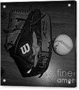 Baseball Acrylic Print by Meagan Hoelzer