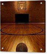 Basketball And Basketball Court Acrylic Print by Lane Erickson